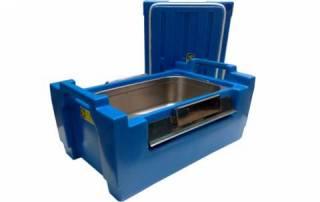 Caixa térmica Hot Box 30L Azul