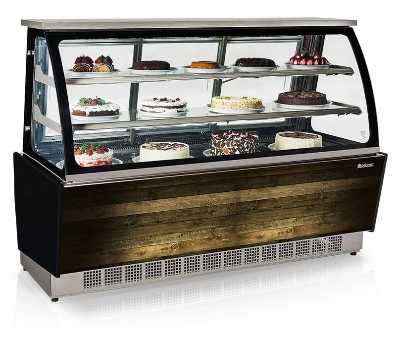 Vitrine Refrigerada - Dupla Função GGSR 180 - Vidro Serigrafia. Linha Gourmet Luxo.