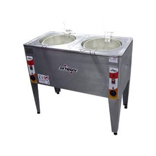 Friatadeira Elétrica Água e Óleo, Inox, Skymsen Dupla 24L D | Refrimur