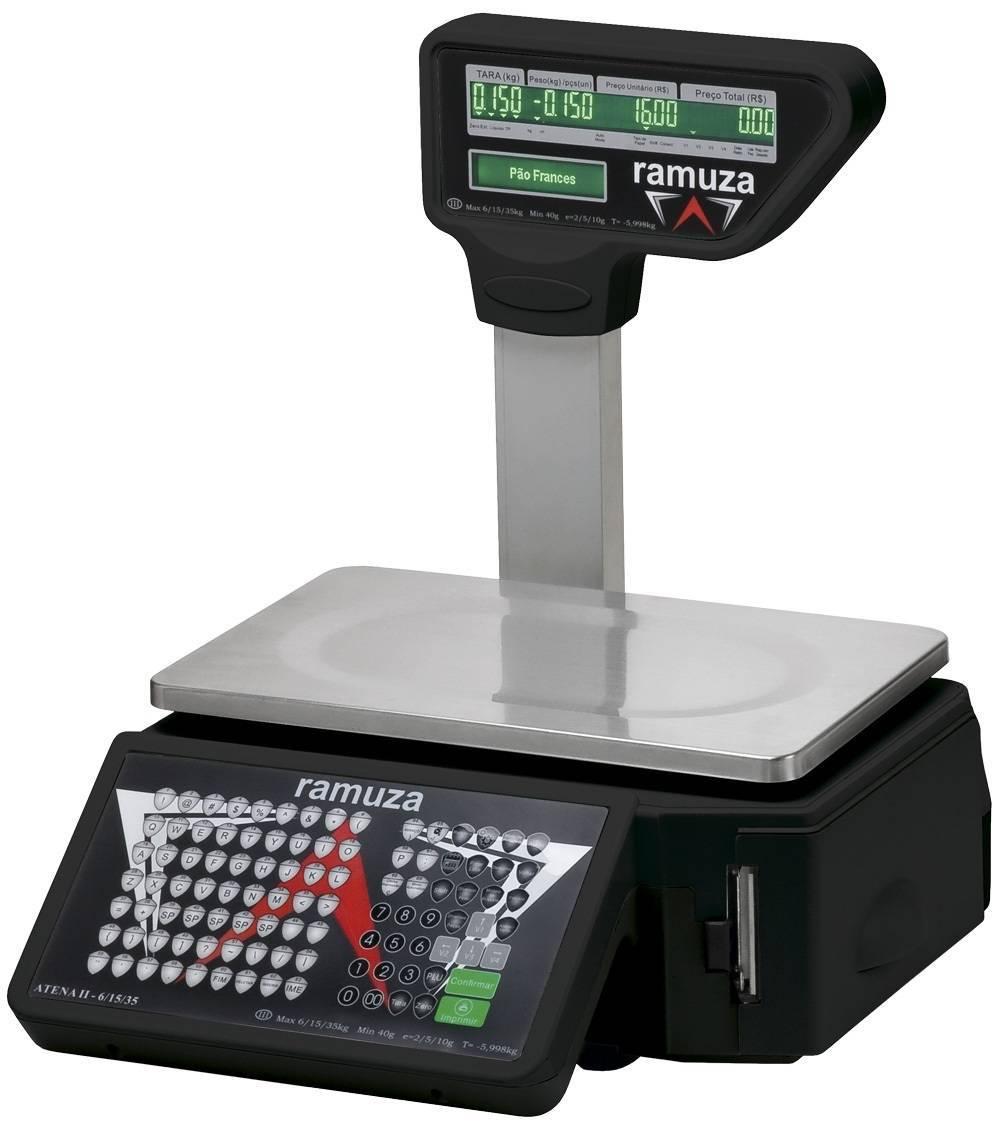 Balança Atena II Ramuza com Torre 15/30kg, com Automação Comercial com Wi-Fi
