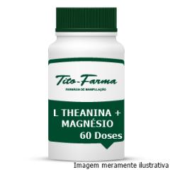 L Theanina + Magnésio Glicina - Relaxamento, Combate a Ansiedade e TPM (60 Doses)