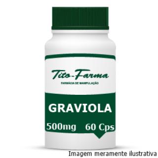 Graviola - Antiespasmódica, Vasodilatadora e Hipotensora (500mg - 60 Cps) | Tito Farma