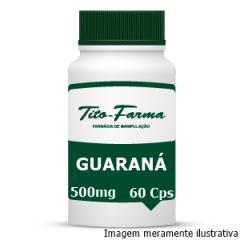 Guaraná - Afrodisíaco, Estimulante e Auxiliar no Combate ao Cansaço Físico (500mg - 60 Cps)