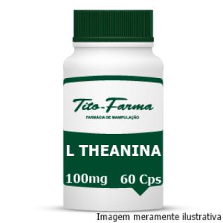 L Theanina - Auxiliar no Relaxamento, Modulação do Humor e Ansiedade (100mg - 60 Cps)   Tito Farma