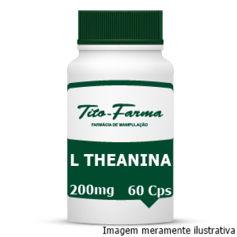 L Theanina 200mg - 60 Cps