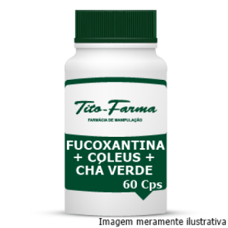 Fucoxatina + Coleus + Chá Verde - Trio para Combate a Gordura Abdominal (60 Cps)   Tito Farma