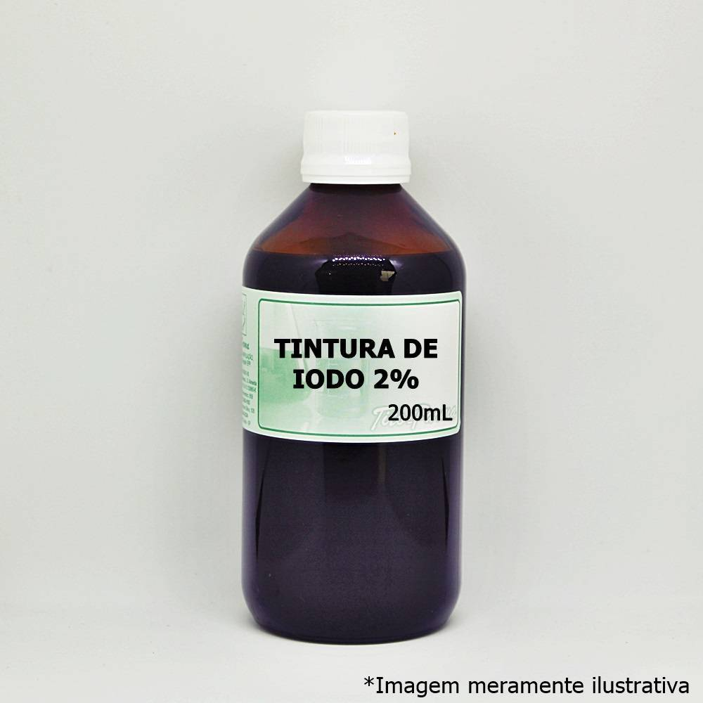 Tintura de Iodo 2% - Iodo Para Uso Tópico (200mL)