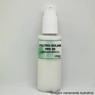 Filtro Solar FPS 30 (Hipoalergênico) - Para Todos os Tipos de Pele (130g) | Tito Farma