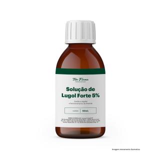 Solução de Lugol Forte - Auxilia a Regular o Funcionamento da Tireoide (5% - 50mL) | Tito Farma