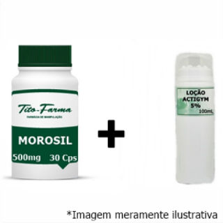 Kit Para Queima de Gordura: Morosil 500mg - 30 Cps + Actigym 5% - 100mL | Tito Farma