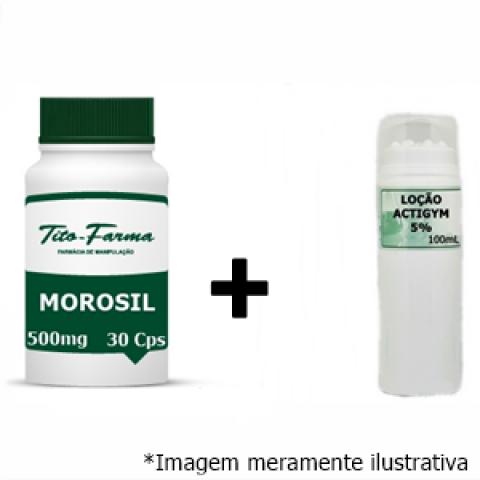 Kit Para Queima de Gordura: Morosil 500mg - 30 Cps + Actigym 5% - 100mL