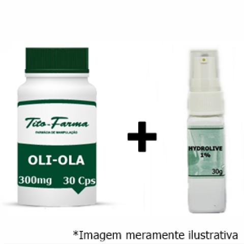 Kit Para Combater as Manchas: Oli-Ola 300mg - 30 Cps + Hydrolive 1% - 30g