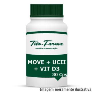Move + UCII + Vitamina D3 - Saúde das Articulações (30 Cps) | Tito Farma