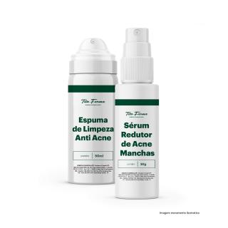 Kit Para Prevenir Acne: Espuma de Limpeza Anti Acne - 50mL + Sérum Redutor de Acne e Manchas - 30g | Tito Farma