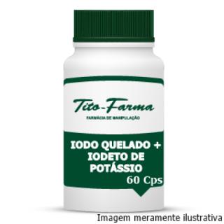 Lugol em Cápsulas (Iodo Quelado + Iodeto de Potássio) - 60 Cps | Tito Farma