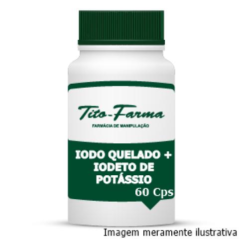 Lugol em Cápsulas (Iodo Quelado + Iodeto de Potássio) - 60 Cps