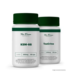 Kit Para Potencializar o Treino: KSM-66 300mg - 60 Cps + TeaCrine 200mg - 30 Cps | Tito Farma