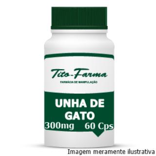 Unha de Gato - Propriedades Anti-inflamatória, Antimutagênica e Imunoestimuladora (300mg - 60 Cps) | Tito Farma