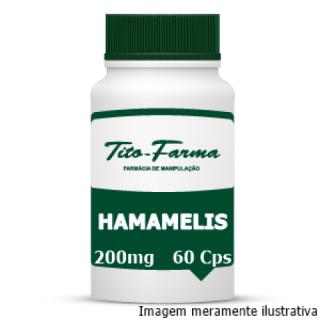 Hamamelis - Efeito Adstringente, Bactericida e Tratamento de Hemorroidas (200mg - 60 Cps) | Tito Farma