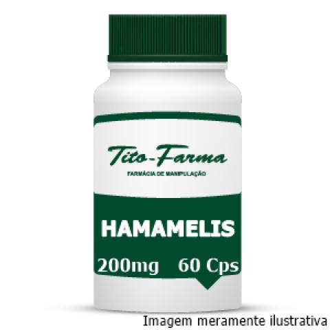 Hamamelis - Efeito Adstringente, Bactericida e Tratamento de Hemorroidas (200mg - 60 Cps)