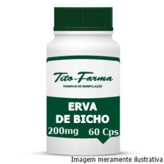Erva de Bicho - Ação Diurética, Vermífuga e Auxiliar no Tratamento de Hemorroidas (300mg - 60 Cps) | Tito Farma