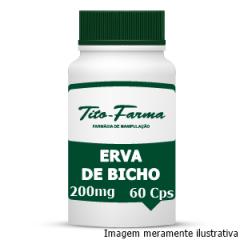 Erva de Bicho - Ação Diurética, Vermífuga e Auxiliar no Tratamento de Hemorroidas (300mg - 60 Cps)