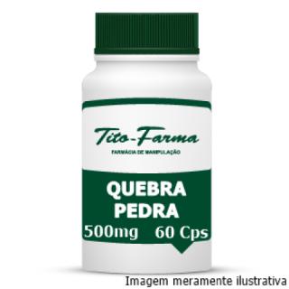 Quebra Pedra - Auxiliar no Tratamento de Afecções do Trato Urinário (500mg - 60 Cps) | Tito Farma