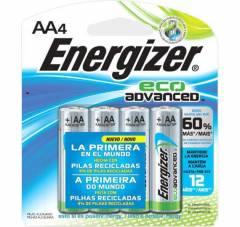 Pilha AA Alcalina Eco Advanced ENERGIZER Blister c/ 4un.