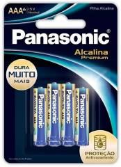 Pilha AAA Alcalina Premium Evolta PANASONIC Blister c/ 6 un.