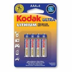 Pilha AAA Lithium KODAK ULTRA Blister c/ 4un.