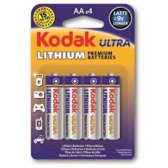 Pilha AA Lithium KODAK ULTRA Blister c/ 4un.