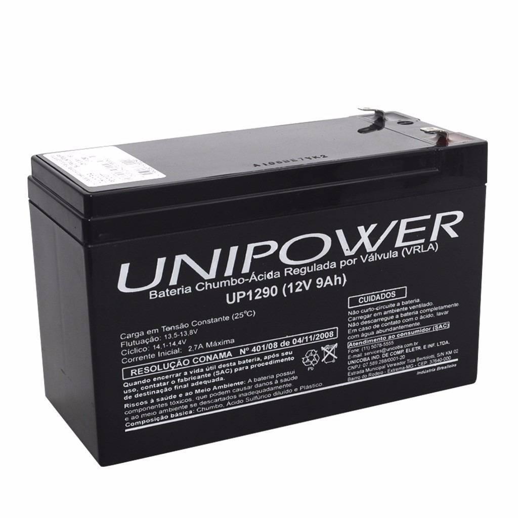 Bateria selada 12v 9ah up1290 vrla unipower casa da pilha - Bateria para casa ...
