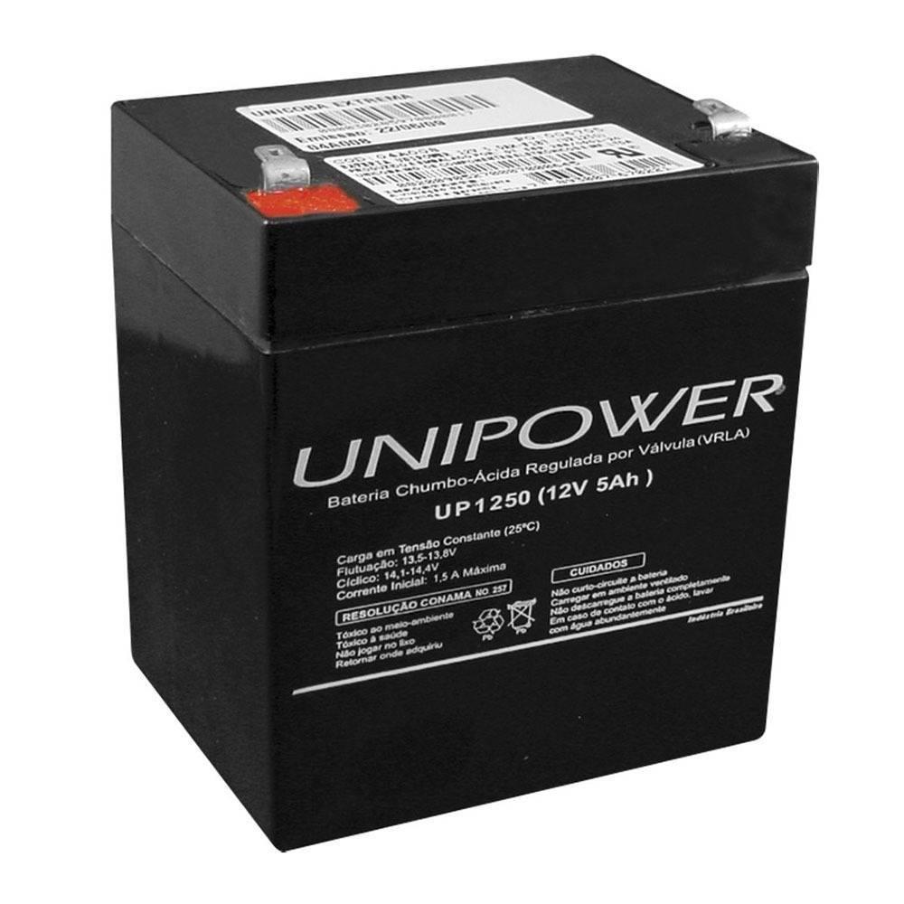 Bateria selada 12v 5ah up1250 vrla unipower casa da pilha - Bateria para casa ...