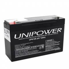Bateria Selada 6V 12Ah UP6120 VRLA UNIPOWER