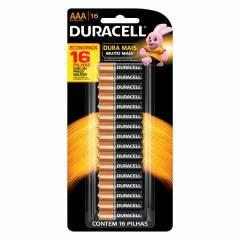 Pilha AAA Alcalina Duracell Blister c/ 16un.