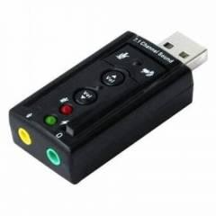 Placa Adaptadora de Som USB 7.1 USON-10 EXBOM