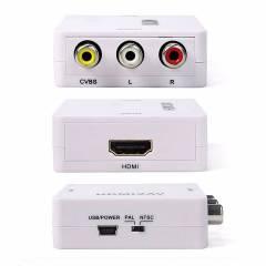 Mini Conversor HDMI p/ RCA /AV KP-3455 KNUP