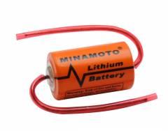 Bateria 3,6V ER14250 (1/2AA) Lithium MINAMOTO c/ Terminal