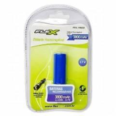 Bateria 3,7V 3800mAh 18650 Lithium Recarregável FLEXPOWER