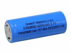 Bateria 3,7V 4200mAh ICR26650 Lithium Recarregável