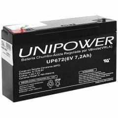 Bateria Selada 6V 7,2Ah UP672 VRLA UNIPOWER