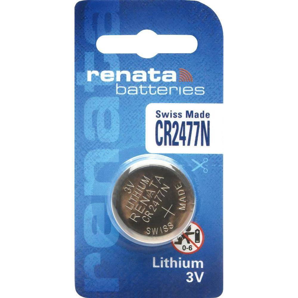 a7f2b0e13 Bateria Botão CR2477N 3V Lithium c/ Chanfro RENATA