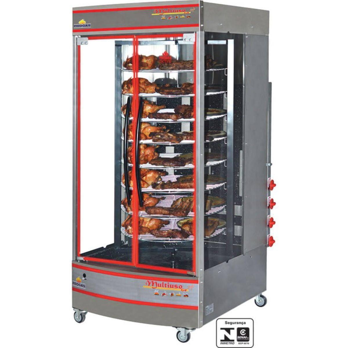 Forno Multiuso Giratório Industrial a Gás 128Kg Bivolt PRP-4