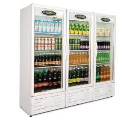 Expositor Refrigerado Vertical Visa Cooler 3 Portas 1300L ERV-1300 Conservex