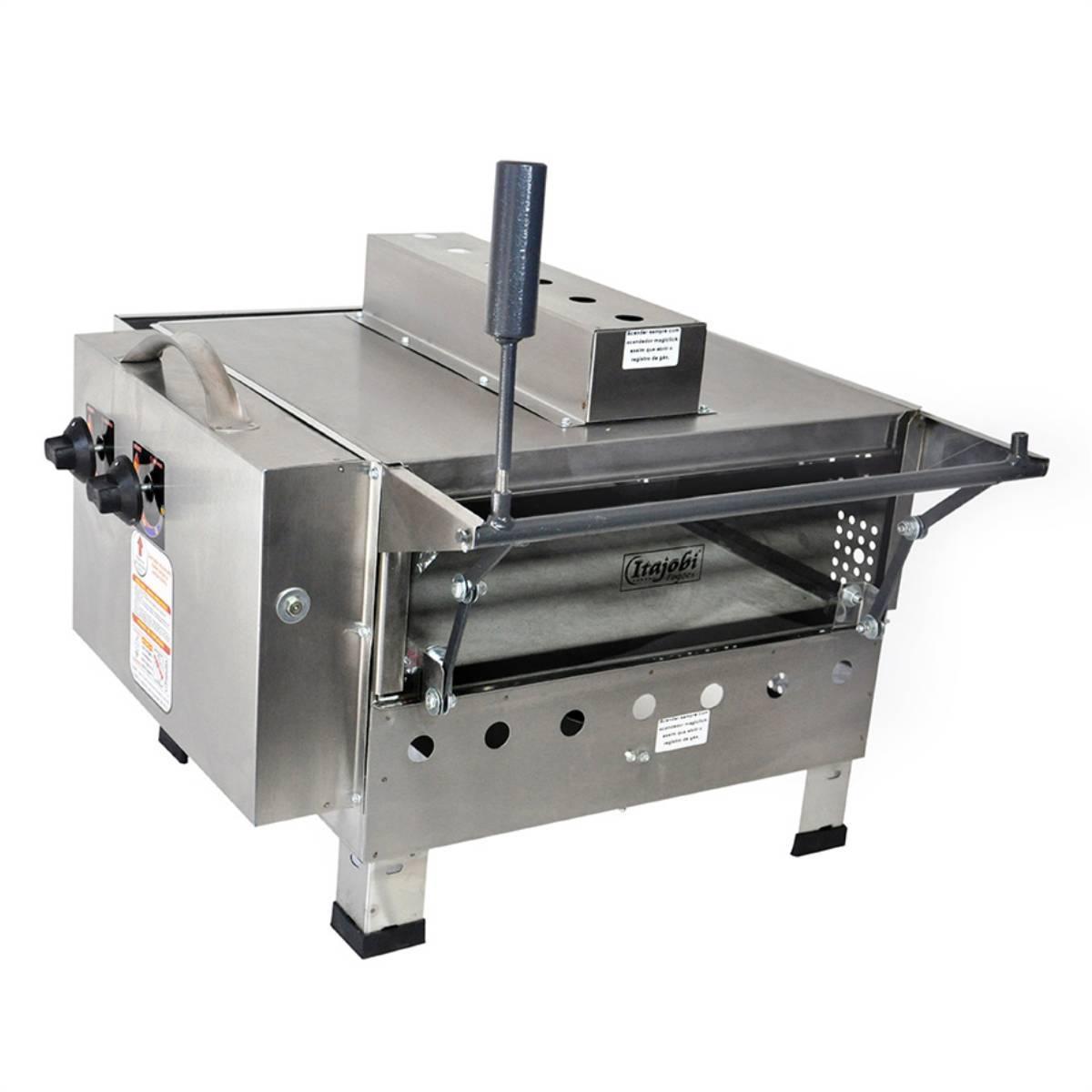 Pizza Grill Fixo Refratário Luxo com Infravermelho 425x425 I