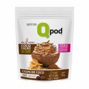 Chips de Coco assado – Sabor Chocolate – Qpod – 40g