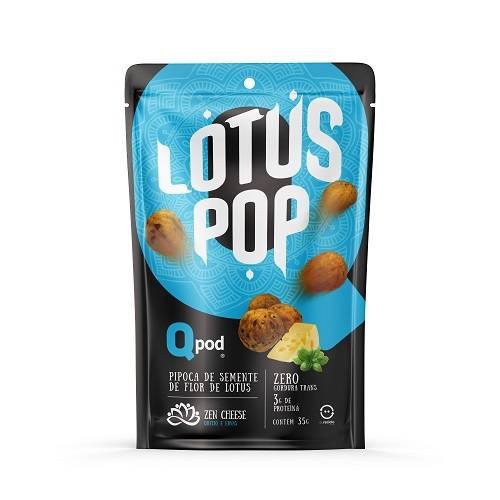 Lotus Pop Zen Chesse - Queijo e Ervas 35g