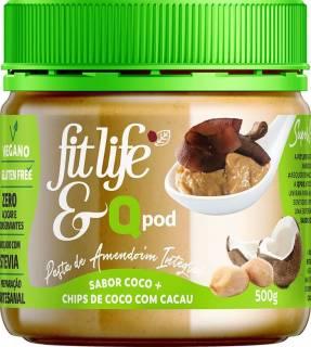 Pasta de Amendoim Natural com chips de coco com cacau | QPod