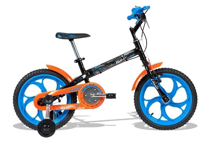 Bicicleta Caloi Hot Wheels aro 16'
