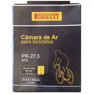 Câmara de Ar Pirelli Mtb Aro 27,5 Válvula Presta 48mm   BIKE ALLA CARTE